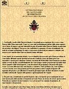 La lettera di Papa Ratzinger ai cattolici irlandesi sui preti pedofili (foto Web)