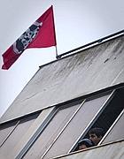 L'edificio occupato da CasaPound (Lapresse)