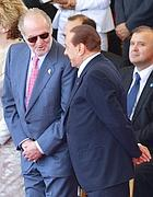 Il re di Spagna Juan Carlos con il premier italiano