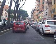 Traffico congestionato a San Giovanni