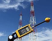 Misurazioni di emissioni presso le antenne (Ansa)
