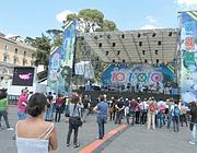 La manifestazione di venerdì in piazza del  Popolo a Roma (Ansa)