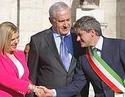 Il sindaco di Roma con Benjamin Netanyahu