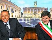 Alemanno con il premier Silvio Berlusconi (Jpeg)