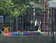 Il cortile della scuola materna di Rignano Flaminio (Proto)