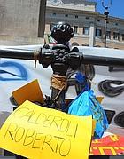 La protesta a Montecitorio (Ansa)