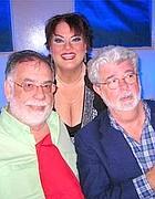 Francis F. Coppola e George Lucas con un' amica (foto dal web)