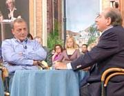 Renzo Danesi durante una puntata di «I fatti vostri» su Rai2, con Magalli