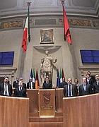 Alemanno col la sua giunta nel febbraio 2011