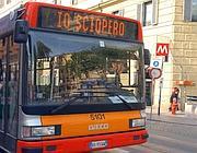Un bus romano durante un recente sciopero