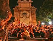 Piazza Trilussa di notte (foto Jpeg)