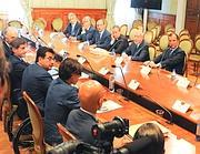 La riunione a Palazzo Chigi (foto Omniroma)