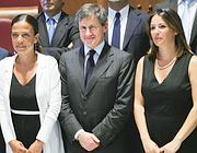 La nuova giunta Alemanno  (al centro) con Rosella Sensi (sinistra) e Belviso