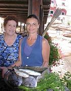 Anna Malingieri con la madre al Pozzillo