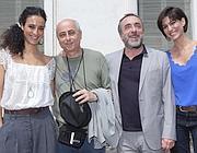 Astrid Meloni, il regista Roberto Faenza, Silvio Orlando e Giulia Bevilacqua (foto Ansa)