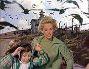 Una scena da «Uccelli» di Alfred Hitchcock