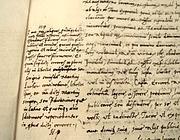 Particolare della Bolla Decet Romanum Pontificem con cui Leone X scomunica Martin Lutero