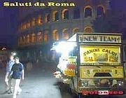 La «cartolina da Roma con camion bar» pubblicata sul sito AgoraVox