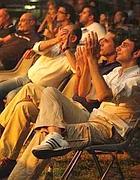 Il pubblico alla Casa del Jazz di Roma