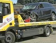 L'auto dell'imprenditore albanese viene prelevata dalla Polizia