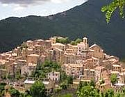 Una veduta di Filettino (dal sito del Parco regionale dei Monti Simbruini)