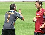 Francesco Totti e Luis Enrique (Fotopress)