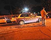 La Polizia a San Basilio dopo lo scippo (Proto)