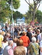 La protesta di domenica a San Basilio (foto Proto)