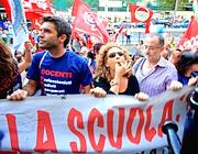 Una protesta dei precari della scuola (Jpeg)