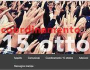 Il logo sulla homepage del Coordinamento 15 ottobre