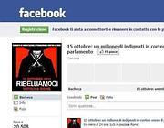 La pagina su Facebook degli Indignati