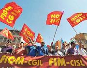 Protesta  Fiom in centro