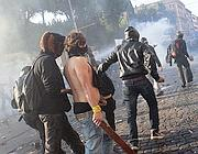 Un'altra immagine di Filippi  durante gli scontri (Eidon)