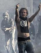 Fabrizio Filippi, arrestato per aver lanciato l'estintore