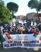 Una delle numerose proteste contro Malagrotta Bis