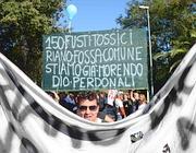 Una protesta a Riano (Faraglia)