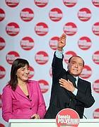 Renata Polverini e Silvio Berlusconi (Imagoeconomica)