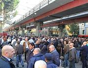 I manifestanti bloccano via Prenestina (Ravagli)