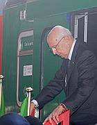 Napolitano scende dal Treno del Milite Ignoto (Liverani)