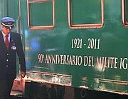Il treno del Milite Ignoto giunto a Termini (Graffiti)