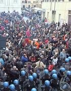Un corteo di studenti nel centro di Roma (Eidon)