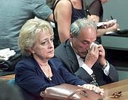 I genitori di Marta Russo in una delle udienze per il processo (Ansa)
