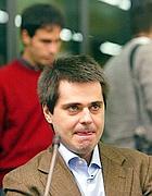 Giovanni Scattone  durante il processo (Ap)
