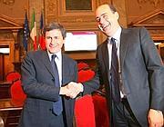 Zingaretti con Alemanno (Jpeg)