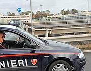 Carabinieri sul viadotto lungo l'Ostiense (Faraglia)
