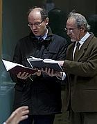 Carlo Previderè e Paolo Fattorini, due dei tre periti (Foto Ansa)