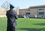 La Lazio con i detenuti - Nel carcere di Rebibbia si è giocata la partita di calcio organizzata dalla Regione (in collaborazione con la Lazio) tra le squadre di detenuti e alcuni calciatori della Lazio (Foto Eidon)