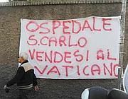 Una protesta dei dipendenti del San Carlo di Nancy (Proto)