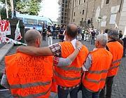 Una protesta di dipendenti Atac (Jpeg)