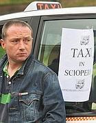 Un tassista in sciopero nel giugno 2011 (Jpeg)